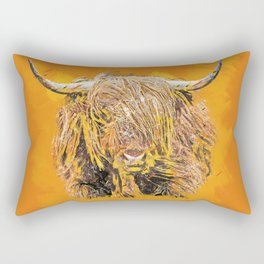 Colorful Highland Cow Rectangular Pillow