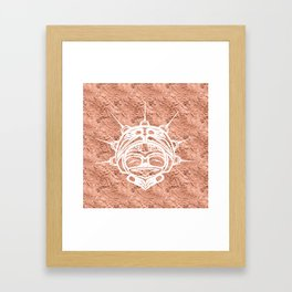 Spirit Frog Copper Framed Art Print