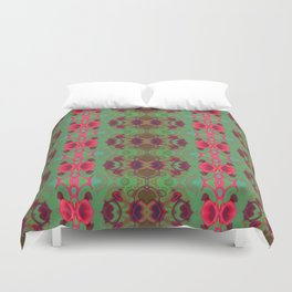 Pink and green marble Duvet Cover