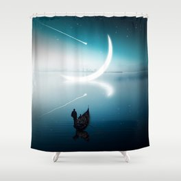 Close to the moon Shower Curtain