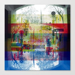 Remembering rushing through but without obstacles. [CMYK] Canvas Print