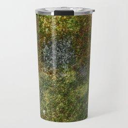 Old stone wall with moss Travel Mug