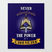 warhammer Canvas Prints featuring Librarian, Warhammer 40K by ZsaMo Design