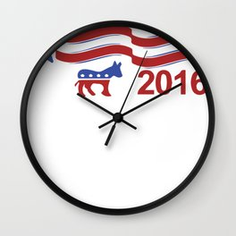 Hillary Clinton For President 2016 Wall Clock