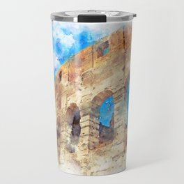 part of the Colosseum, Rome, Italy, summer Travel Mug
