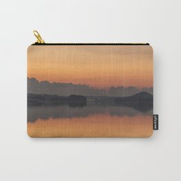 Sunset colors and reflection on the lake surface - magical atmosphere in Scandinavian night Carry-All Pouch