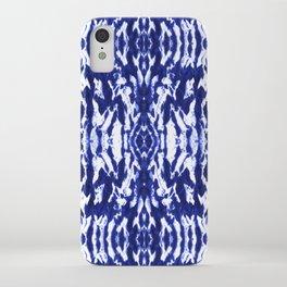 Ayashi Shibori Ikat Blue iPhone Case