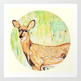 As A Deer Art Print