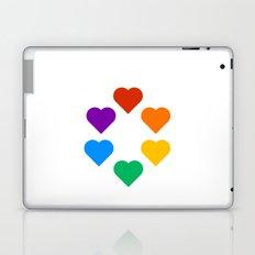 Gay Pride Rainbow Hearts Laptop & iPad Skin