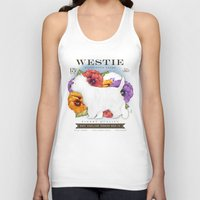 westie Tank Tops featuring Westie West Highland Terrier seed company dog art illustration by Stephen Fowler by gemini studio art by Stephen Fowler