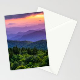 Sundown from Cowee Mountains Landscape Stationery Cards