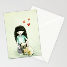 Pug is my best friend Stationery Cards