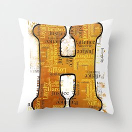 "Proud to be ""H"" Throw Pillow"