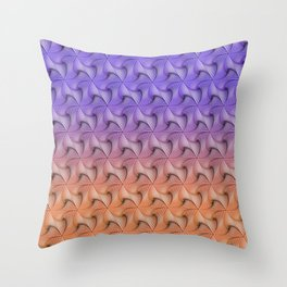 Triangle staircases gradient Throw Pillow