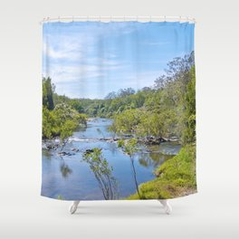 Beautiful tranquil river in the tropics Shower Curtain