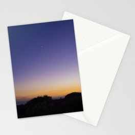 Last Crescent Moon of Summer Stationery Cards
