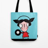 dj Tote Bags featuring dj by Alfonnew Shop
