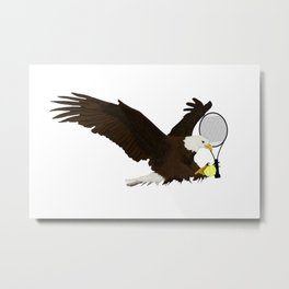 Tennis Eagle Metal Print