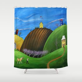 Hilly Horse Shower Curtain