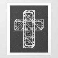 cross Art Prints featuring Cross by Dizzy Moments