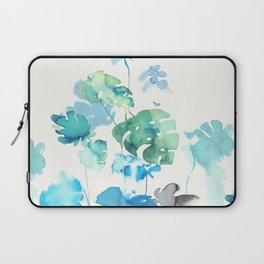 Tropical leaves, (collab Dylan Silva!) Laptop Sleeve