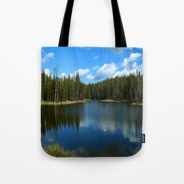 Tranquil Morning At Gull Point Drive Tote Bag