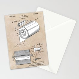 patent art Allen Toilet paper holder 1933 Stationery Cards