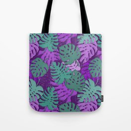 Pattern with monstera leaves Tote Bag