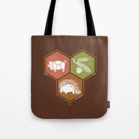 math Tote Bags featuring simple math by 7115