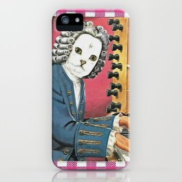 I Don't Bach I Meow Handcut collage iPhone Case