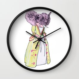 Madame Elephant Wall Clock