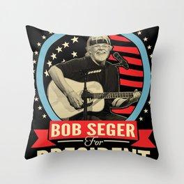bob seger album 2020 ansel4 Throw Pillow