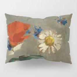 """Odilon Redon """"Pichet au Coquelicot et a la Marguerite"""" Pillow Sham"""