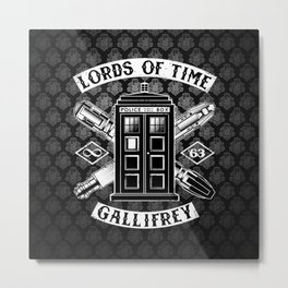 Tardis Pattern Of Time Metal Print