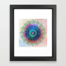 Leaf Mandala Framed Art Print