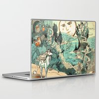 the last unicorn Laptop & iPad Skins featuring Last Unicorn Journey  by Christina Siravo