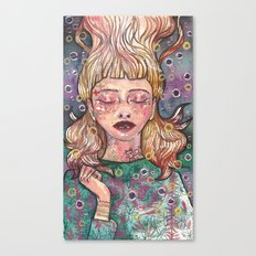 Bubble girl Canvas Print