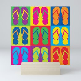 Pop Art Flip Flops Mini Art Print