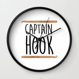 Captain Hook Wall Clock