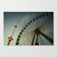 ferris wheel Canvas Prints featuring FERRIS WHEEL by Studio70