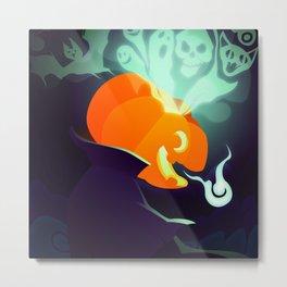 Silly Bestiary : Jack O'Lantern Metal Print