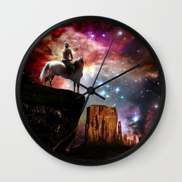 Native American Universe Wall Clock