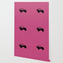 Jeep 'Side silhouette' PINK Wallpaper