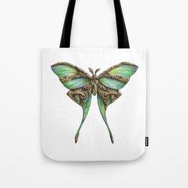 Steampunk Green Luna Moth Tote Bag