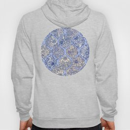 Moroccan Floral Lattice Arrangement - Purple Hoody