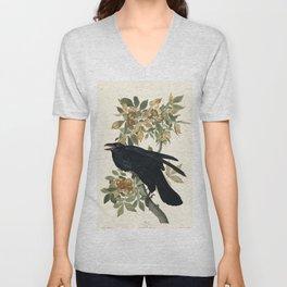 Audubon plate - Raven (Corvux corax) Unisex V-Neck