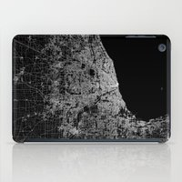 chicago map iPad Cases featuring Chicago map by Line Line Lines