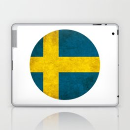 Sweden flag, circle Laptop & iPad Skin