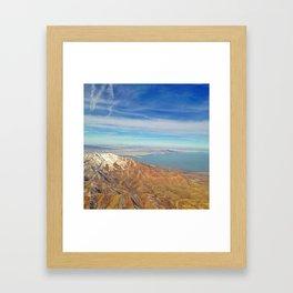 Flying over Utah Framed Art Print