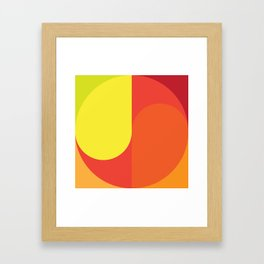 Geometric No. 32 ying-yang variation Framed Art Print
